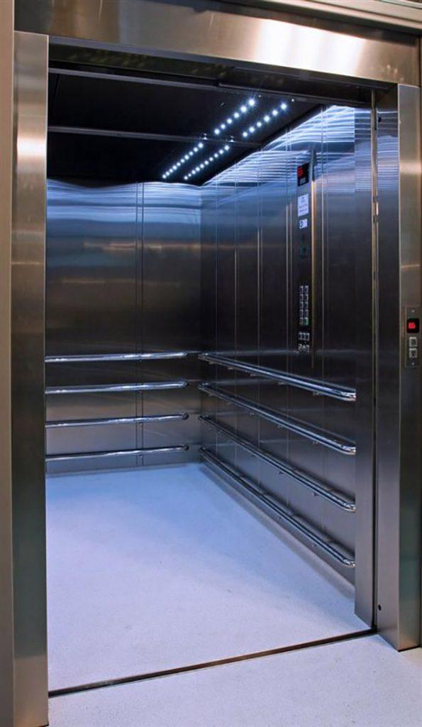 کابین آسانسور تخت بر تمام استیل آنتی باکتریال