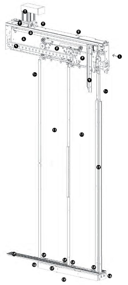 ساختار مکانیزم درب کابین LiftEquip