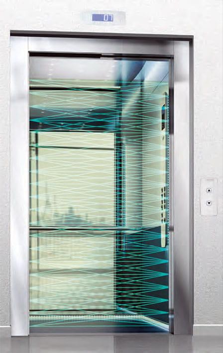 فتوسل پرده ای جهت ایمنی مسافر آسانسور