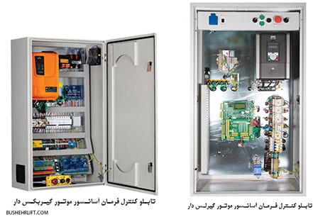 تابلو کنترل فرمان آسانسور های موتور ( گیربکس و گیرلس دار )