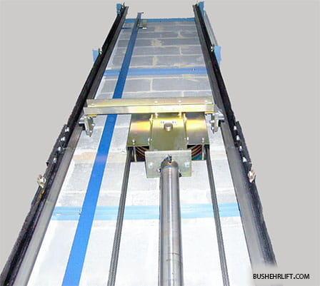 نمایی از آسانسور هیدرولیک جک غیرمستقیم