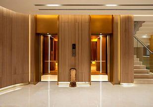 چیدمان آسانسورهای گروهی دوتایی