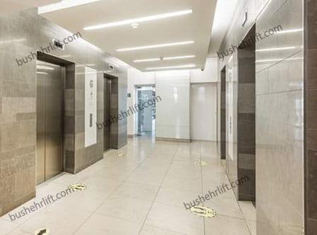 آسانسورهای چهار تایی رو به روی هم