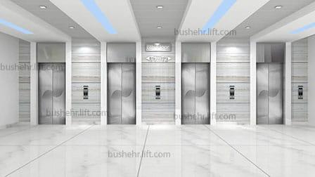 آسانسور چهارتایی با چیدمان خطی