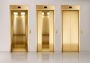 چیدمان آسانسورهای سه تایی و چهارتایی